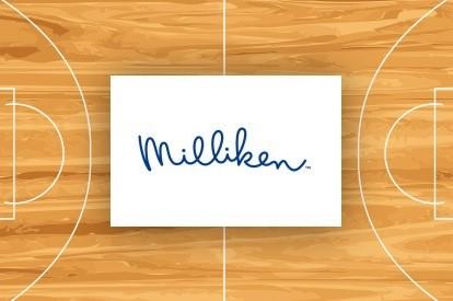 Milliken basketball rug | Bassett Carpets