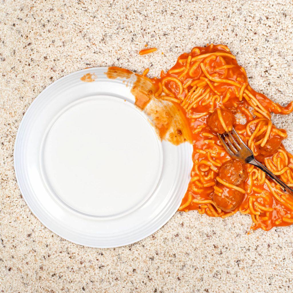 Spilled spaghetti on Carpet | Bassett Carpets