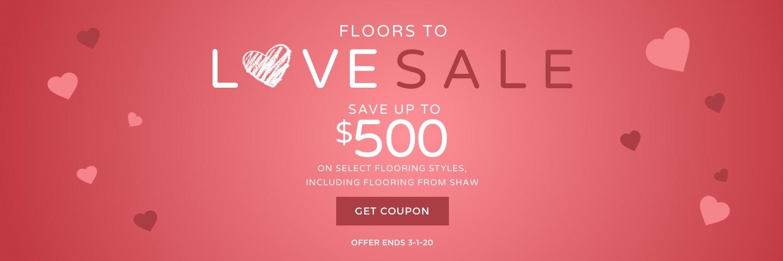 Floors to love sale banner | Bassett Carpets